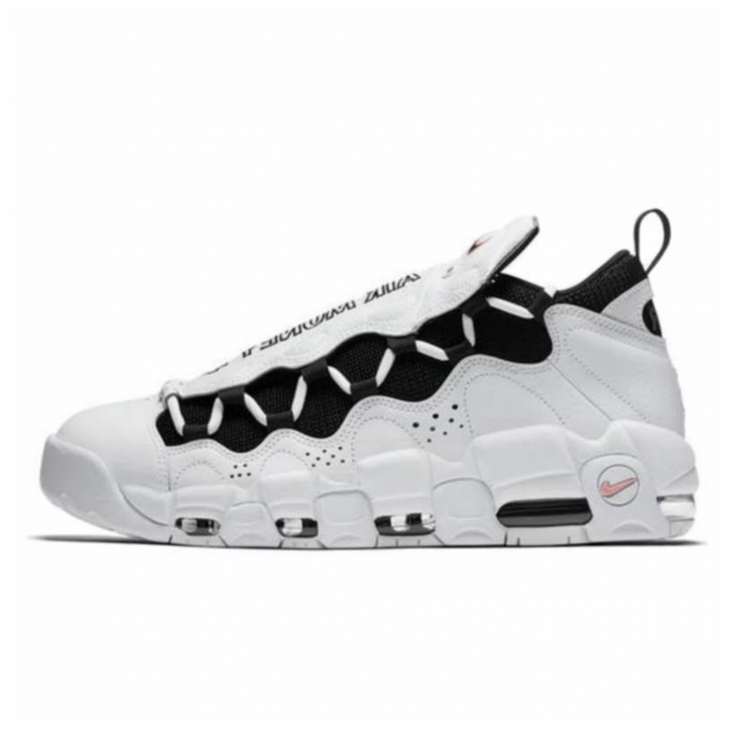 De otra manera Meandro Artístico  Nike Air More Money Blancas/Negras con envío gratis - Selective Shop